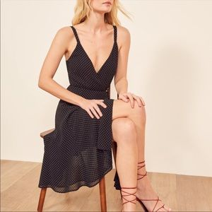 NWT Reformation Mallory Wrap Dress in Point